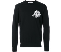 Pullover mit Intarsien-Blumenmotiv