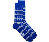 polka dots and stripes socks