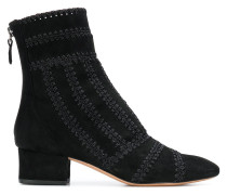 stitch detail ankle boots