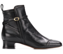 brogue detail ankle boots