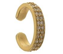 18kt Ear Cuff aus Gelbgold mit Diamanten
