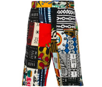 African patchwork shorts