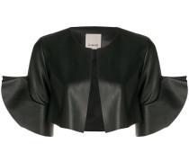 Cropped-Jacke mit Volants