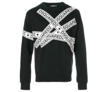 Sweatshirt mit Logo-Tapes