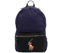 Rucksack mit aufgesticktem Logo