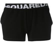 Shorts mit Logo-Saum