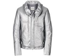 Gefütterte 'Astro Moto' Metallic-Jacke