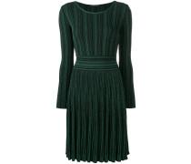 Geripptes Kleid mit Glitzer-Finish