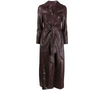 Tarot vegan leather shirt dress