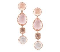 Sadie 4 drop multi peach earrings