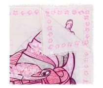 Kaschmir-Schal mit Elefanten-Print
