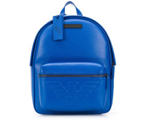 embossed logo patch detail backpack