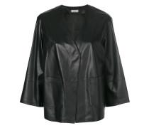 cropped v-neck jacket