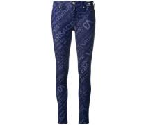 Skinny-Jeans mit Logos
