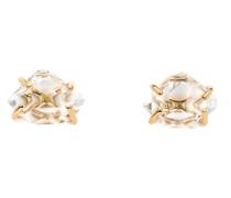 14kt Goldohrringe mit Diamanten