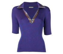 open collar polo shirt