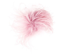 feather oversized brooch