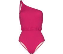One-Shoulder-Badeanzug mit Taillengürtel