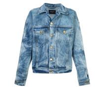 Jeansjacke mit ausgeblichenem Effekt