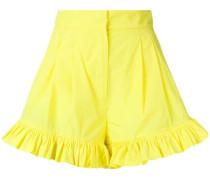 Shorts mit gerüschtem Saum