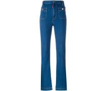 Bootcut-Jeans mit Taschen