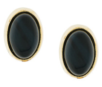 18kt gold black Tiger Eye earrings
