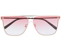 Sonnenbrille mit flachem Gestell