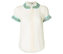 scalloped collar blouse