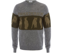 Pullover mit Animal-Jacquardmuster