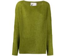 ribbed knit boxy sweater