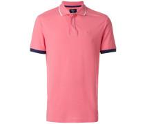contrasting piping polo shirt