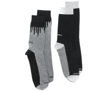 Socken mit Farbklecks-Print