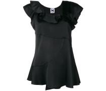 asymmetric ruffled blouse