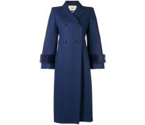 Doppelreihiger Mantel mit Nerzbesatz