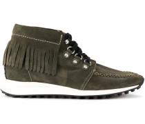 fringed hi-top sneakers