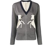 Pullover mit Pferd-Stickerei