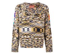 Pullover mit Intarsien-Strickmuster