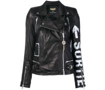 painted-effect biker jacket