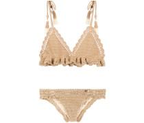 Gehäkelter Bikini mit Rüschen