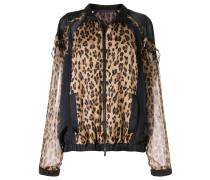 Bomberjacke mit Leoparden-Print