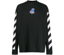 Langarmshirt mit Logo-Streifen