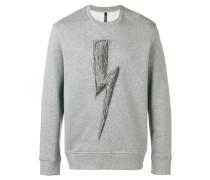 Sweatshirt mit skizziertem Logo