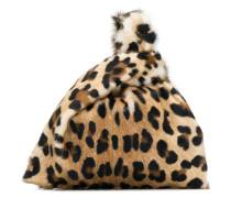 leopard print Furrisima mini bag