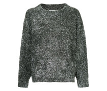 Oversized-Pullover im Glitter-Look