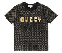 T-Shirt mit ''Guccy''-Print