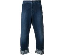 Cropped-Jeans mit umgeschlagenen Säumen