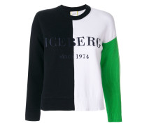 Sweatshirt in Colour-Block-Optik mit Logo