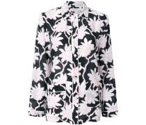 Seidenbluse im Pyjama-Stil