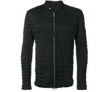 crinkled zip-up jacket