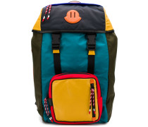 colour block utility backpack